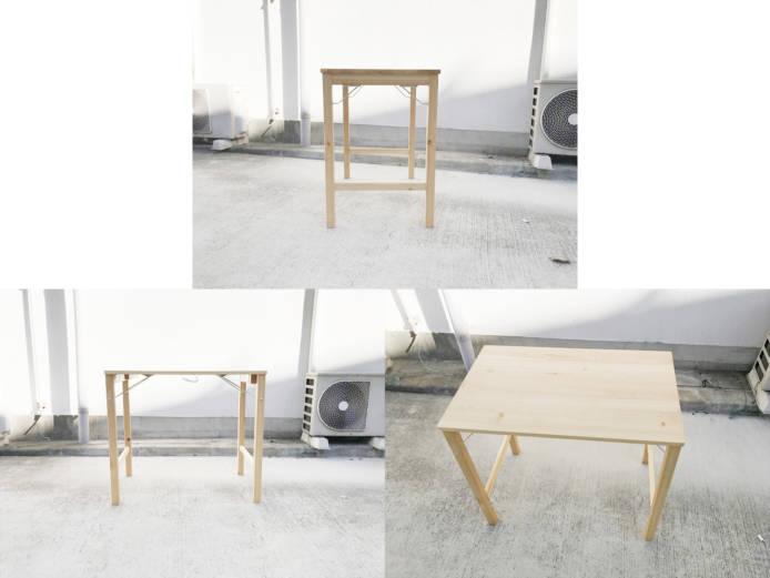 無印良品パイン材テーブルとブナ材チェアセット詳細画像6