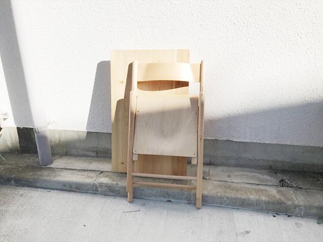 パイン材テーブルとブナ材チェアセット