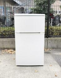 ユーイング2ドア冷蔵庫88リットル直冷式