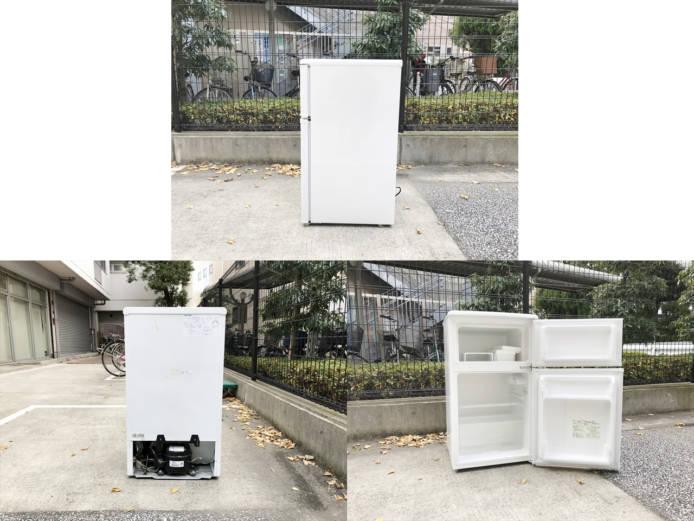 ユーイング2ドア冷蔵庫88リットル直冷式詳細画像4