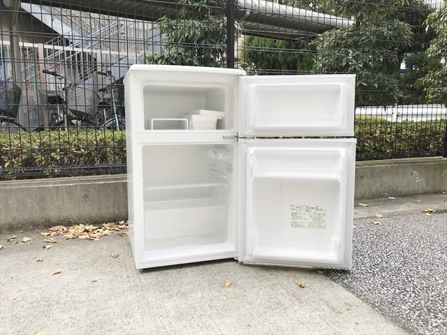 2ドア冷蔵庫88リットル直冷式