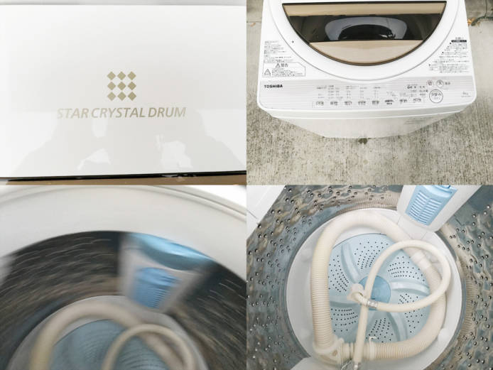 東芝6キロ洗濯機2017年製パワフル洗浄詳細画像2
