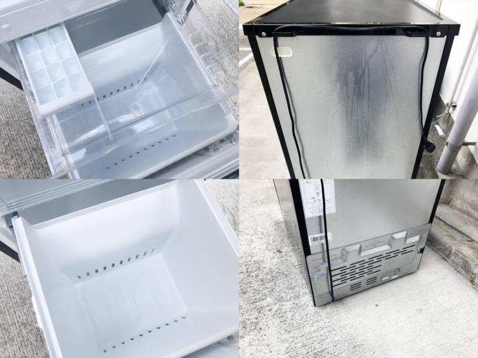 東芝2ドア冷蔵庫ピュアブラック詳細画像1