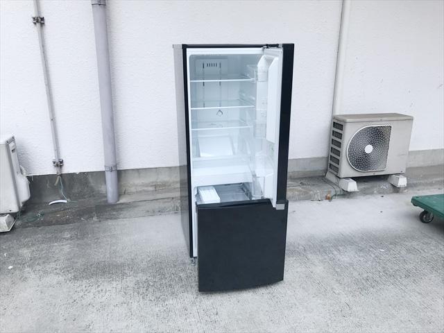 2ドア冷蔵庫ピュアブラック