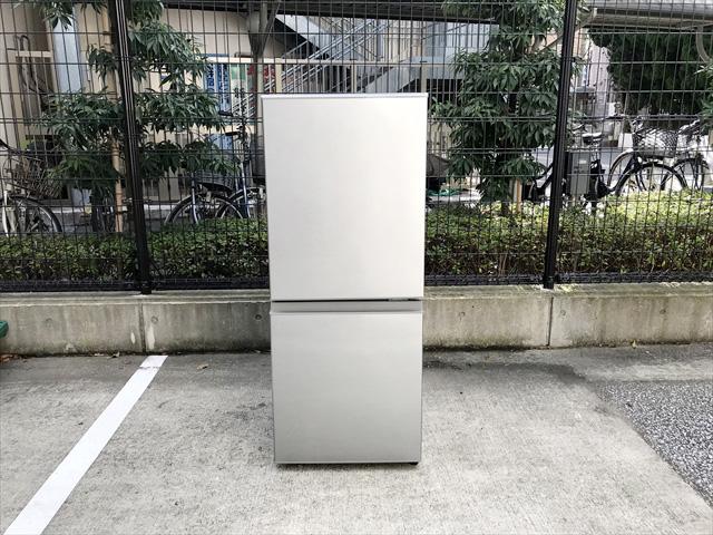 アクア2ドア冷凍冷蔵庫ブラッシュシルバー