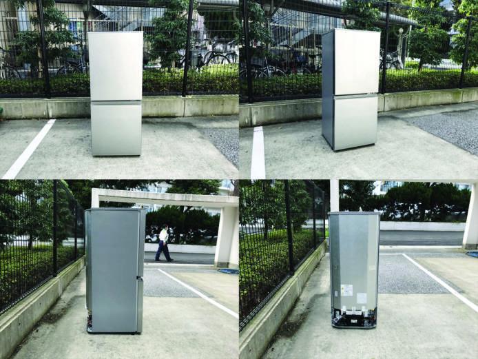 アクア2ドア冷凍冷蔵庫ブラッシュシルバー詳細画像1