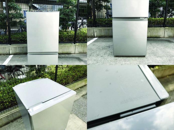 アクア2ドア冷凍冷蔵庫ブラッシュシルバー詳細画像2