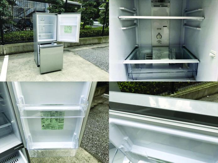 アクア2ドア冷凍冷蔵庫ブラッシュシルバー詳細画像3