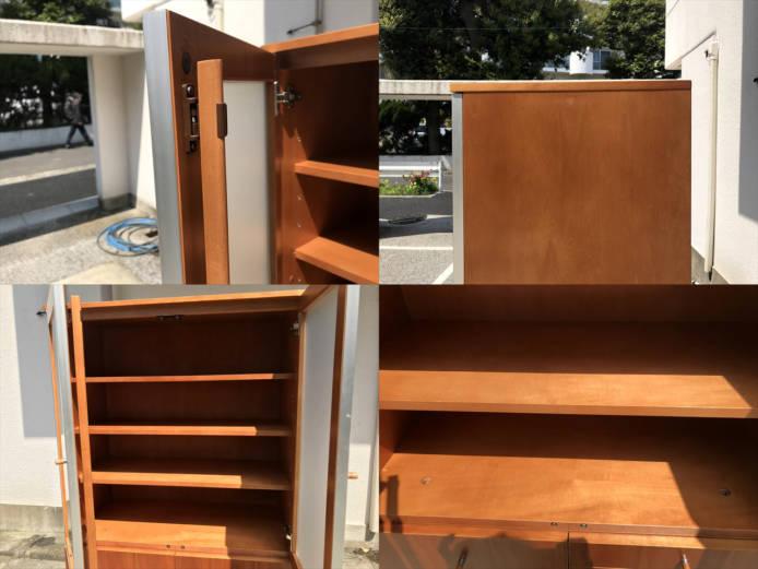 日進木工カップボードチーク材北欧デザイン詳細画像2