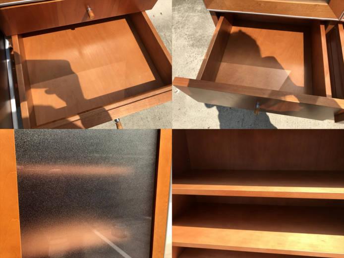 日進木工カップボードチーク材北欧デザイン詳細画像3