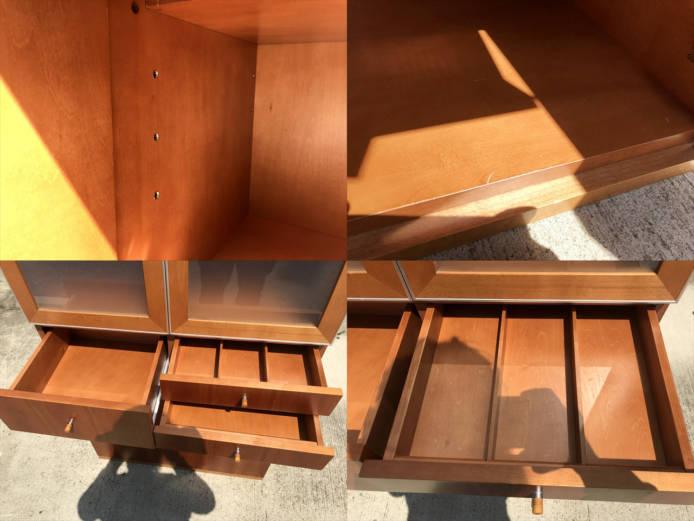 日進木工カップボードチーク材北欧デザイン詳細画像4