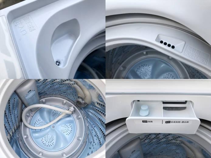 ハイセンス全自動洗濯機5.5キロスリムボディ詳細画像3