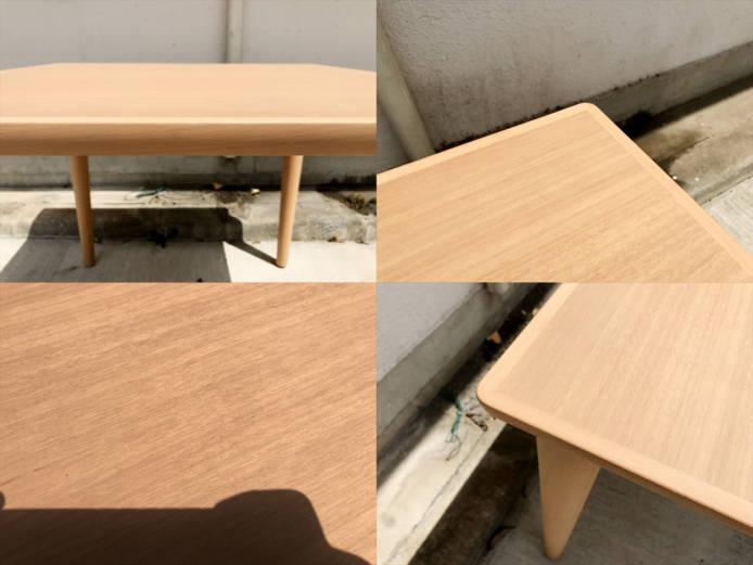 カリモク60プラスダイニングテーブル800ピュアビーチ詳細画像1