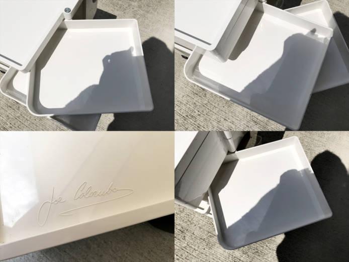 ビーラインボビーワゴン2段3トレーホワイト詳細画像1