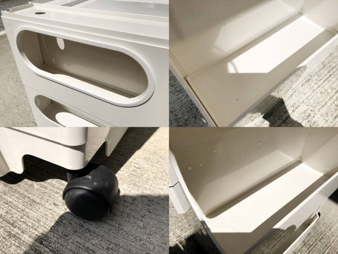 ビーラインボビーワゴン2段3トレーホワイト詳細画像4