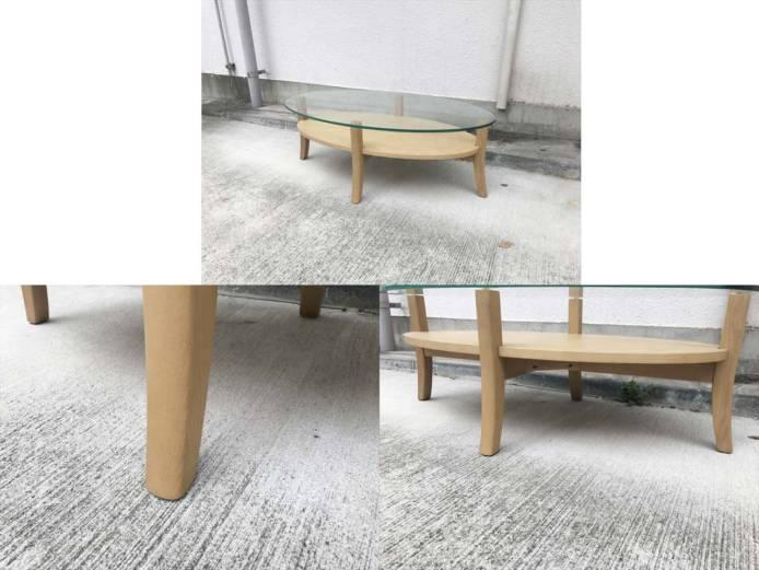 フランフランオーガリビングコーヒーテーブル詳細画像4