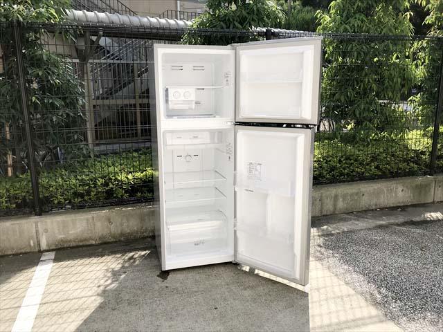 2ドア冷蔵庫大型227リットル