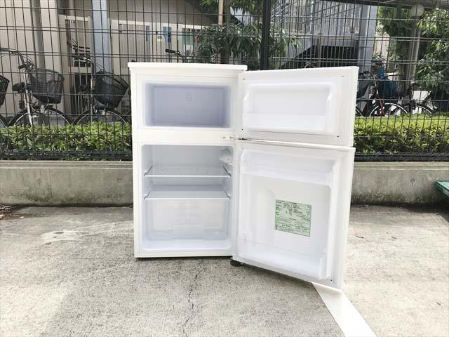 2ドア冷蔵庫コンパクト81リットル