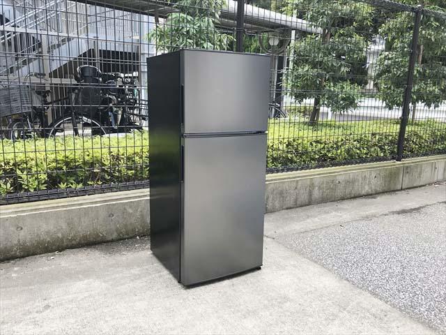 マクスゼン2ドア冷蔵庫118Lガンメタリック
