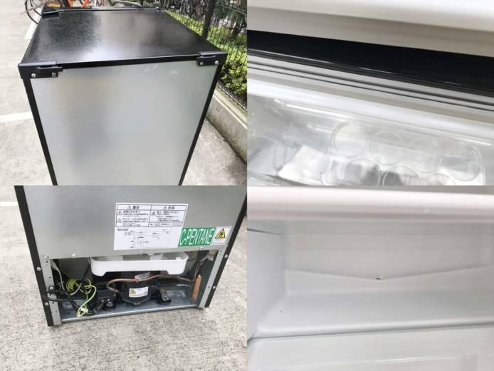 マクスゼン2ドア冷蔵庫118Lガンメタリック詳細画像1