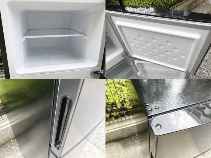 マクスゼン2ドア冷蔵庫118Lガンメタリック詳細画像4