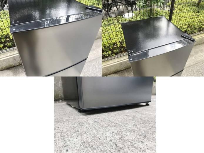 マクスゼン2ドア冷蔵庫118Lガンメタリック詳細画像5