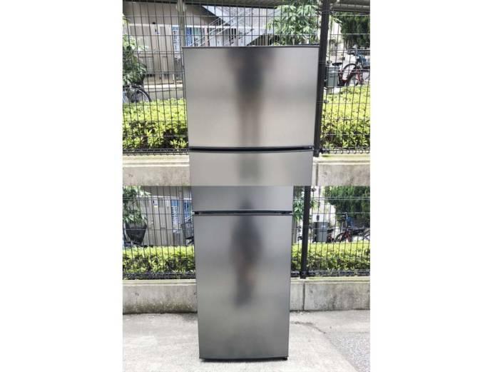 マクスゼン2ドア冷蔵庫118Lガンメタリック詳細画像6