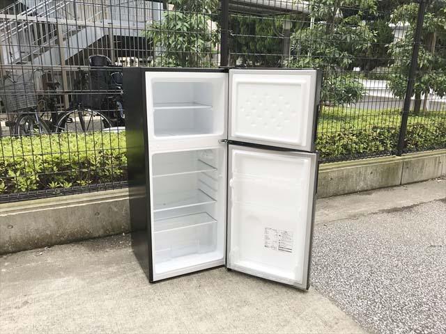 2ドア冷蔵庫118Lガンメタリック