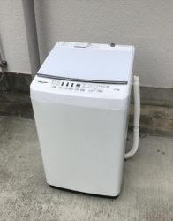 ハイセンス5.5キロ洗濯機ガラストップホワイト