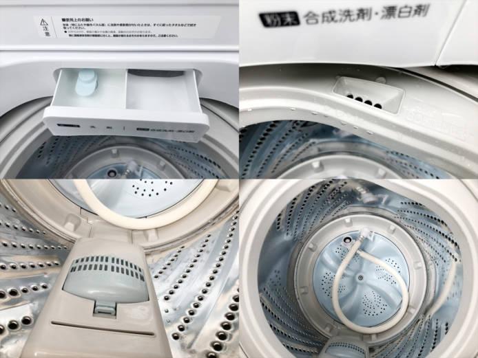 ハイセンス5.5キロ洗濯機ガラストップホワイト詳細画像2