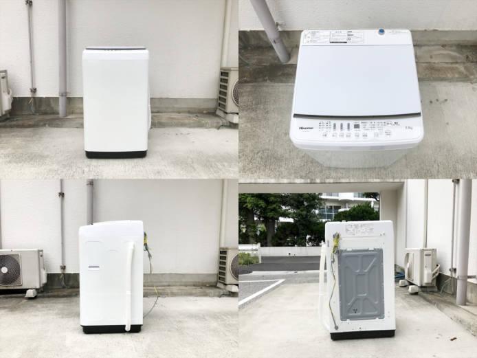 ハイセンス5.5キロ洗濯機ガラストップホワイト詳細画像5