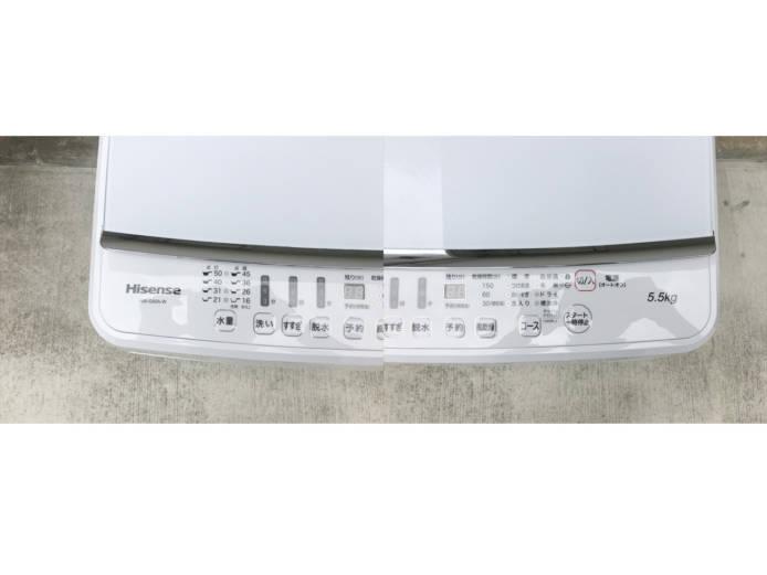 ハイセンス5.5キロ洗濯機ガラストップホワイト詳細画像6