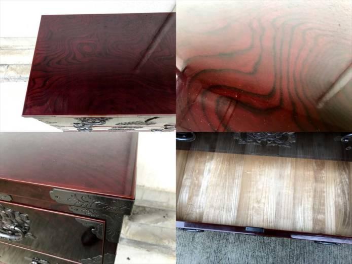 岩谷堂整理箪笥木地呂塗り菊広銅手打ち金具詳細画像4