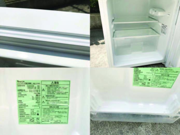 ヤマダ電機2ドア冷蔵庫直冷式90リットル詳細画像2