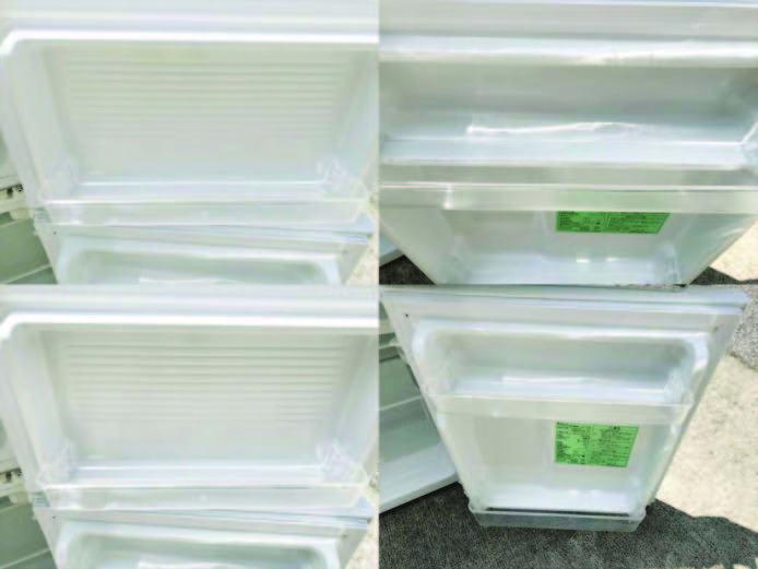 ヤマダ電機2ドア冷蔵庫直冷式90リットル詳細画像3