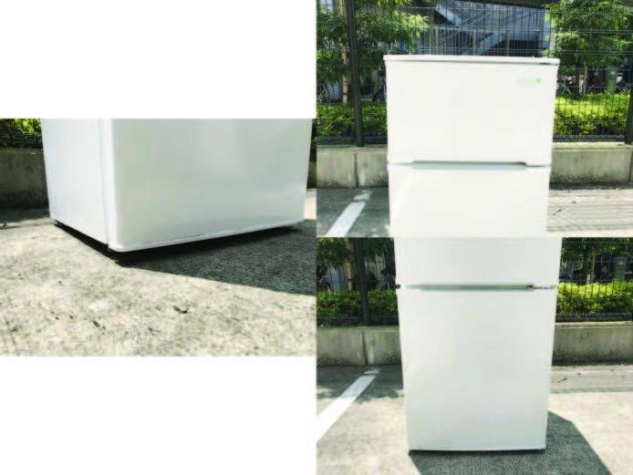 ヤマダ電機2ドア冷蔵庫直冷式90リットル詳細画像5