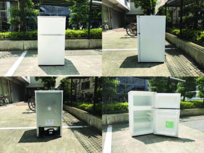ヤマダ電機2ドア冷蔵庫直冷式90リットル詳細画像6