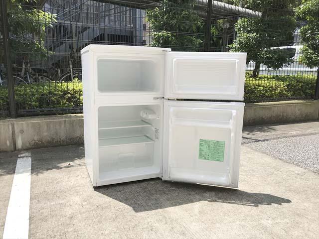 2ドア冷蔵庫直冷式90リットル