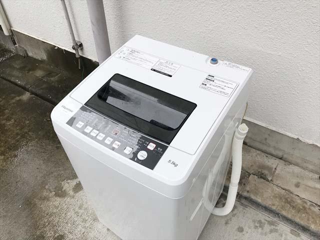 5.5キロ洗濯機2人分ラクラク大容量