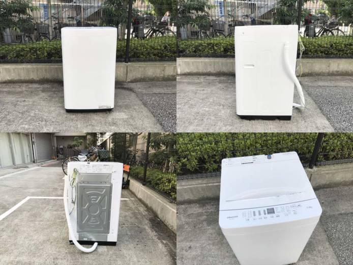 ハイセンス洗濯機5.5キロ高年式ローダウン詳細画像3
