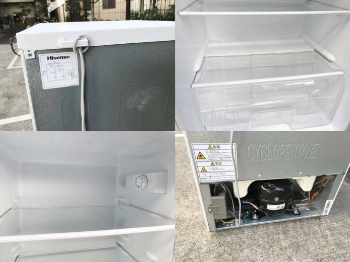 ハイセンス2ドア冷蔵庫高年式シンプルデザイン詳細画像1