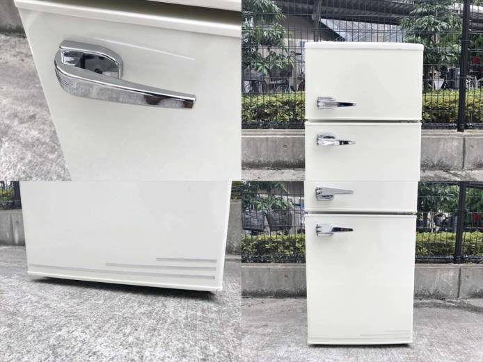 エーステージレトロ2ドア冷蔵庫アメリカンスタイル詳細画像5