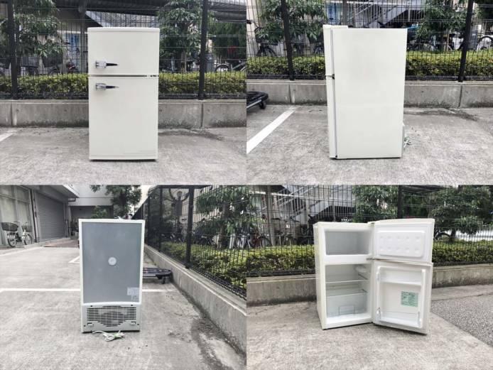 エーステージレトロ2ドア冷蔵庫アメリカンスタイル詳細画像6