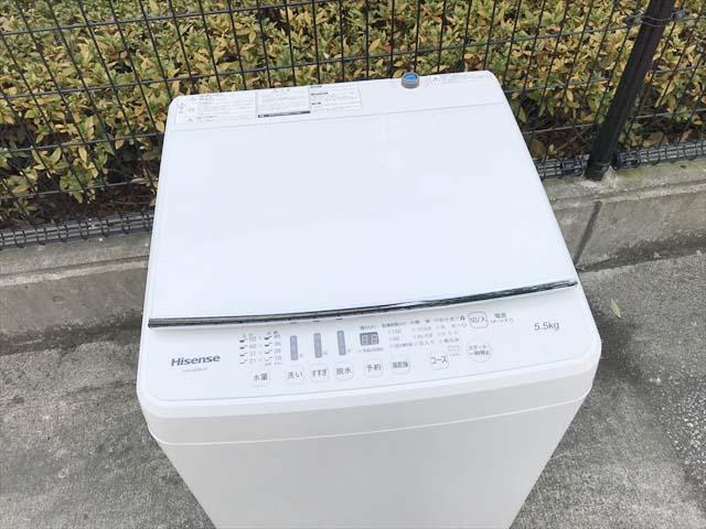 洗濯機最新型5.5キロまとめてらくらく