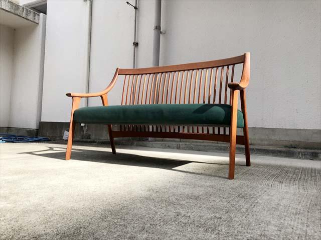 BC工房長椅子ソファチーク材フレーム