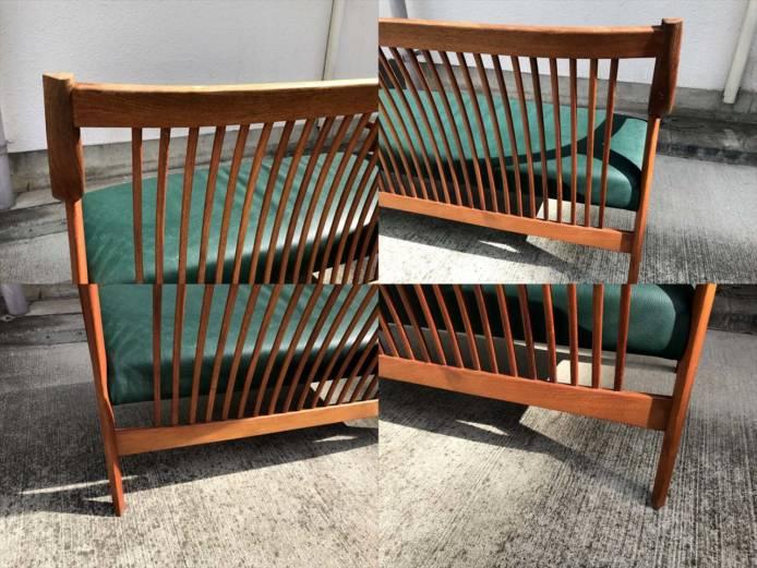 BC工房長椅子ソファチーク材フレーム詳細画像1