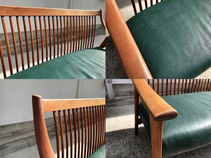 BC工房長椅子ソファチーク材フレーム詳細画像3