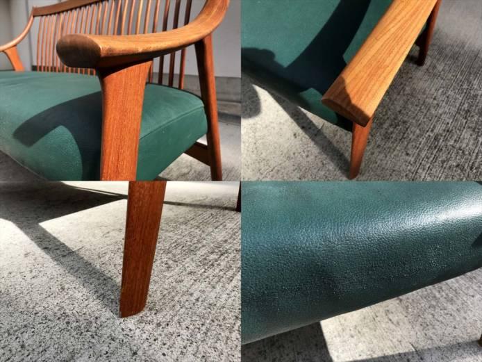BC工房長椅子ソファチーク材フレーム詳細画像5