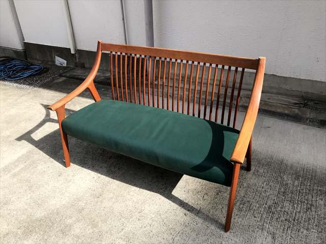 BC工房長椅子ソファチーク材フレーム詳細画像6