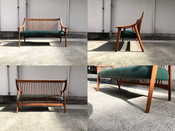 BC工房長椅子ソファチーク材フレーム詳細画像7